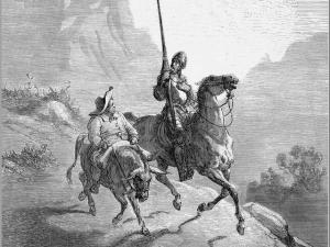 Don Quichotte et Sancho Pança